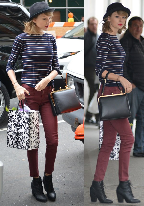 Taylor-Swift-Striped-Sweater