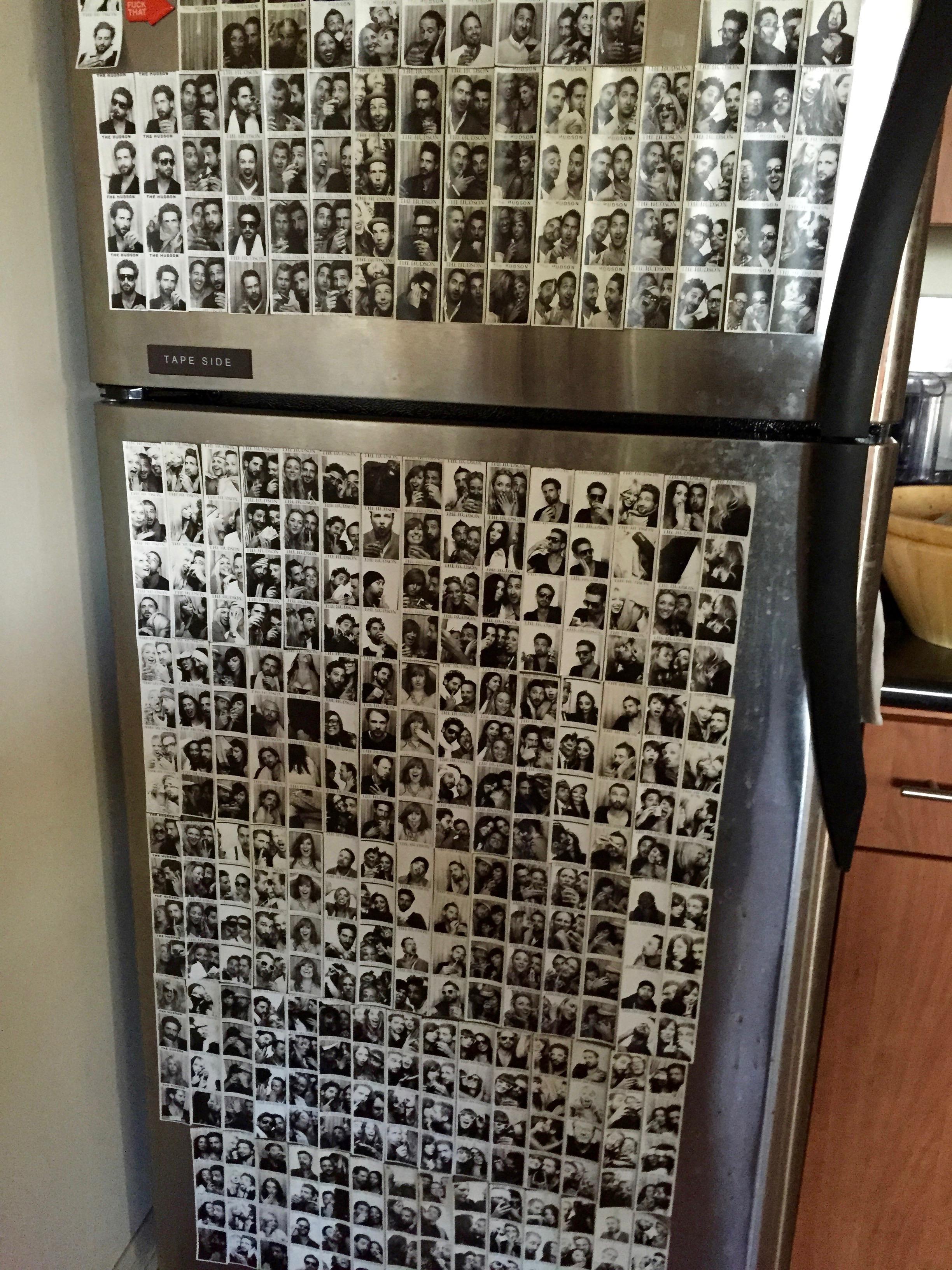 貼滿了照片的冰箱