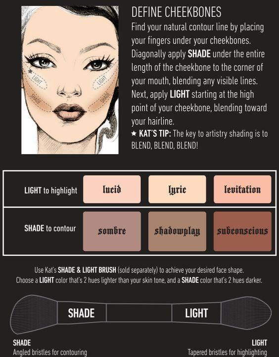 Kat Von D contour tutorial